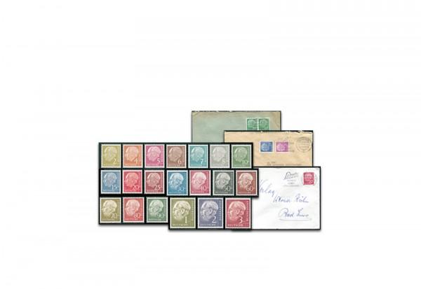 BRD Heuss Marken + Briefe Set