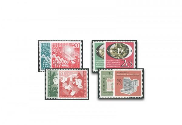 Briefmarken BRD Rotgrünes Quartett 1923-1945 Michel-Nr. 111-112,141-142,153-154,171-172 postfrisch