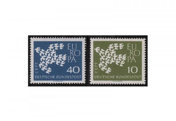 BRD Europa 1961 bis 1962 Michel Nr. 367 und 368 geriffelte postfrisch