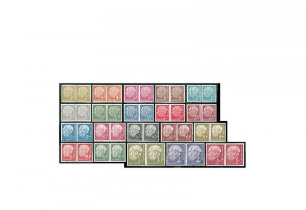 Briefmarken BRD Paarsatz Heuss I. 1954 Michel-Nr. 177-196 postfrisch