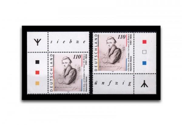 Briefmarke BRD Eckrandstücke links und rechts mit Rune Michel-Nr. 1962 I. postfrisch