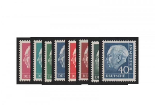 Briefmarken BRD Heuss Iumogen Michel Nr. 179y,181y,183y,186y,259y,260y postfrisch