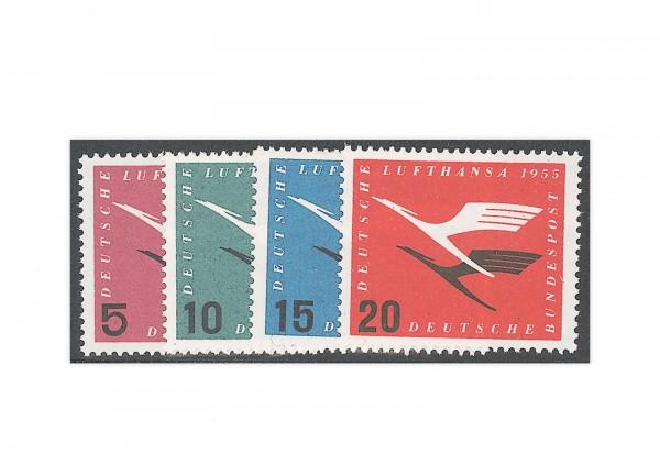 Briefmarken BRD Lufthansa-Satz 1955 Michel-Nr. 205-208 postfrisch