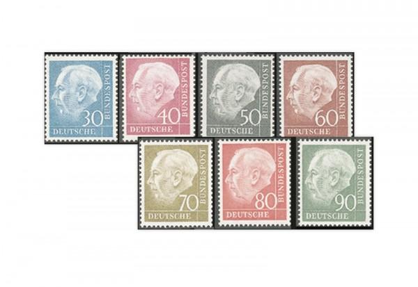 Briefmarken BRD Freimarken Theodor Heuss II. Michel-Nr. 259-265 postfrisch