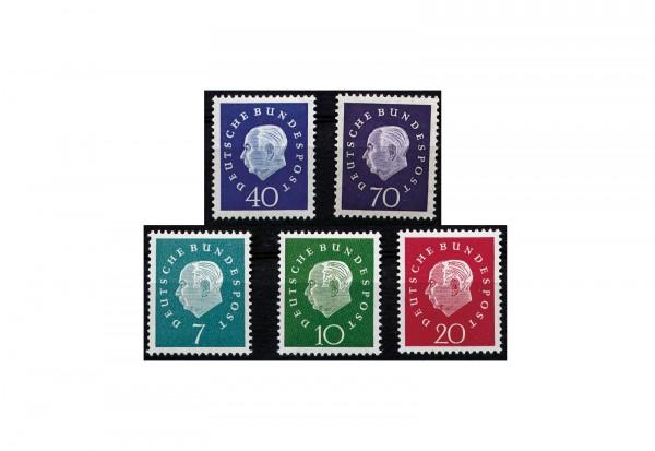 Briefmarken BRD Heuss Medaillon 1959 Michel Nr. 302-306 postfrisch
