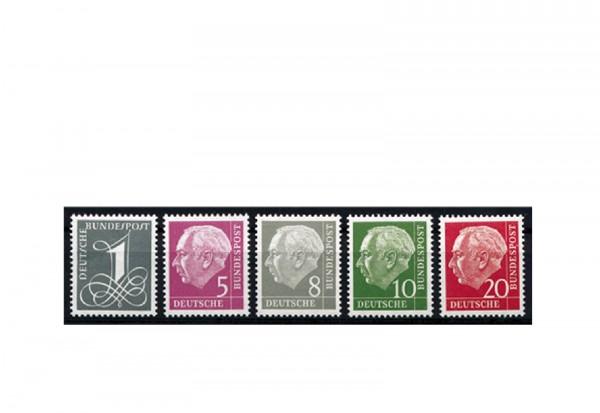 Briefmarken BRD Heuss liegendes Wasserzeichen Michel-Nr. 179 Y II, 285 Y II postfrisch