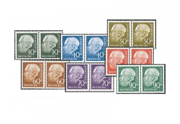 Briefmarken BRD Paarsatz Heuss II. Michel-Nr. 259-265 postfrisch