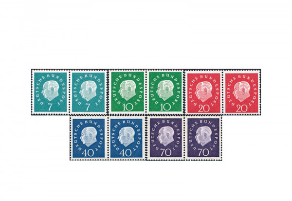 BRD Mi.Nr. 302/306 postfrisch Heuss III waag. PA 5 Werte