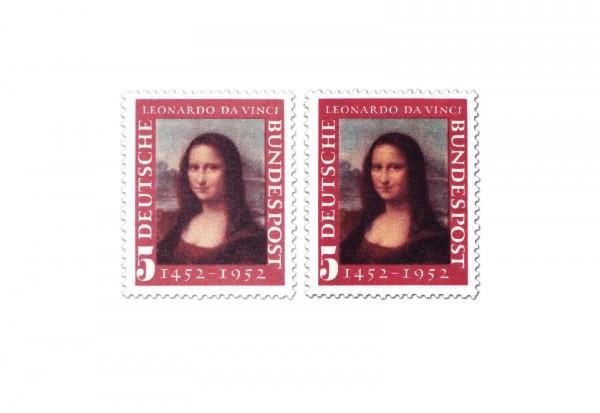 Briefmarken BRD Mona Lisa 1952 Michel-Nr. 148 I-II postfrisch