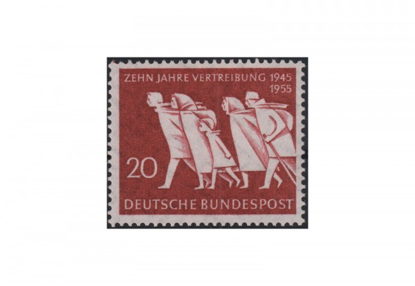 Briefmarke BRD 10 Jahre Vertreibung 1955 Michel-Nr. 215 postfrisch