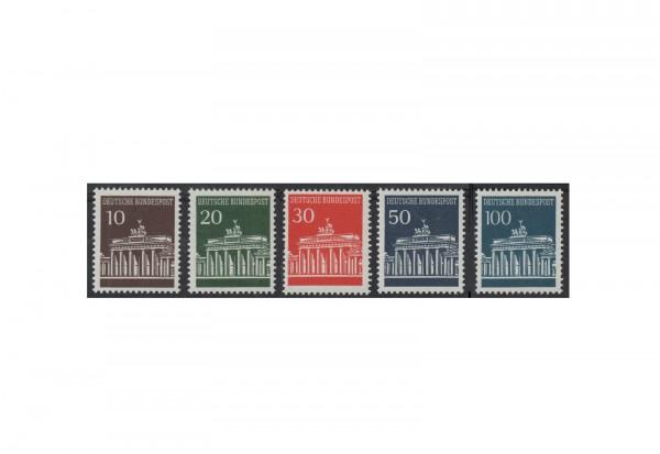 BRD Freimarken Brandenburger Tor 1966 bis 1967 Michel Nr. 506 bis 510 w postfrisch