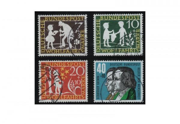 Briefmarken BRD Wohlfahrt Märchen der Brüder Grimm 1959 Michel Nr. 322-325 gestempelt