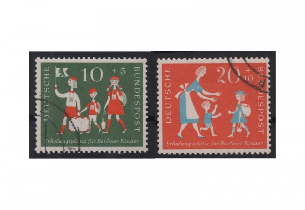 BRD Erholungsplätze für Berliner Kinder 1957 Mi.Nr. 250-251 gestempelt