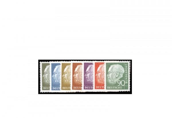 Briefmarke BRD Heuss II Michel-Nr. 259-265 gestempelt