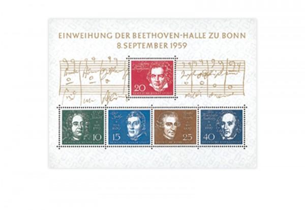 Briefmarken BRD Beethoven 1959 Block 2 postfrisch