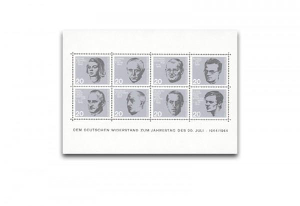 Briefmarken BRD zum 20. Jahrestags des Widerstands Block 3 1964 postfrisch