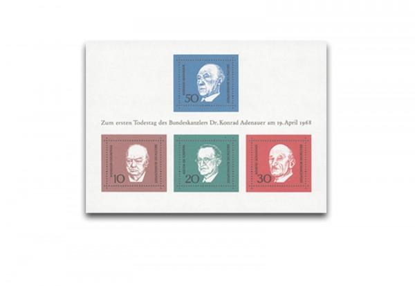 Briefmarken BRD 1968 Block 4 postfrisch