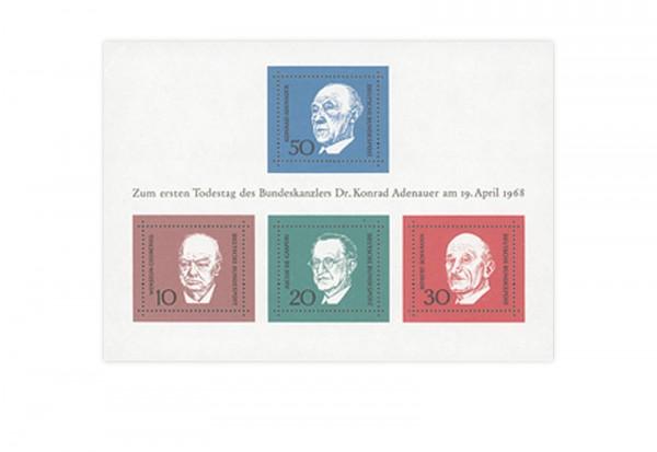 Briefmarken BRD 1968 Block 4 gestempelt