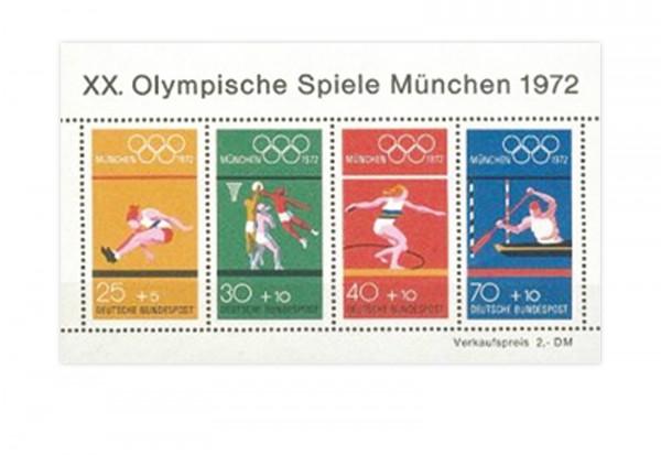 Briefmarken BRD Olympische Spiele München 1972 Block 8 postfrisch