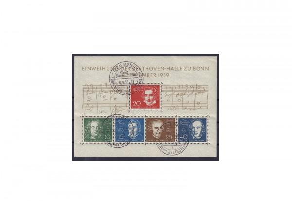 Briefmarken BRD Beethoven 1959 Block 2 gestempelt