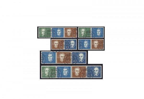 Zusammendrucke BRD Beethoven 1959 gestempelt