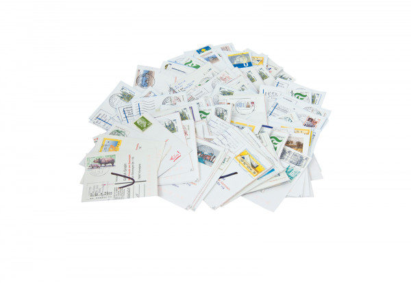BRD Super Lot 2005 bis 2014 Postkartenabschnitte 250 g
