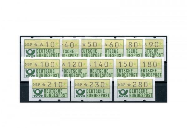 BRD ATM 1.1.VS 1 postfrisch 14 Werte