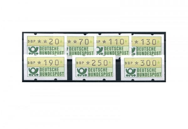 BRD ATM 1.1. VS 2 postfrisch 7 Werte