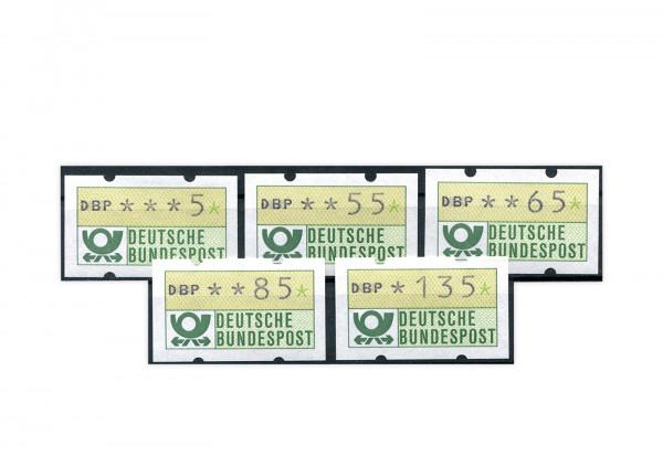 BRD ATM 1.1. VS 4 postfrisch 5 Werte