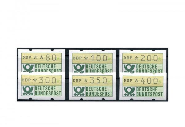 BRD ATM 1.1. VS 9 postfrisch 6 Werte