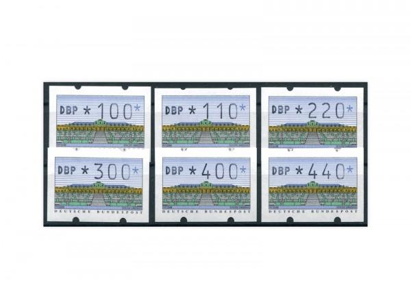 BRD ATM 2.1.2. VS 3 postfrisch 6 Werte
