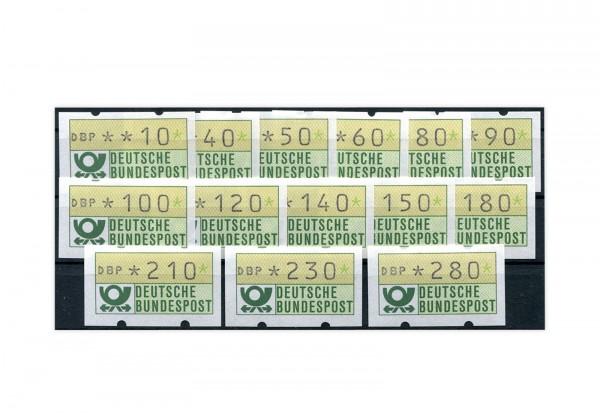BRD ATM 1.1.VS 1 postfrisch mit Zählnummern 14 Werte