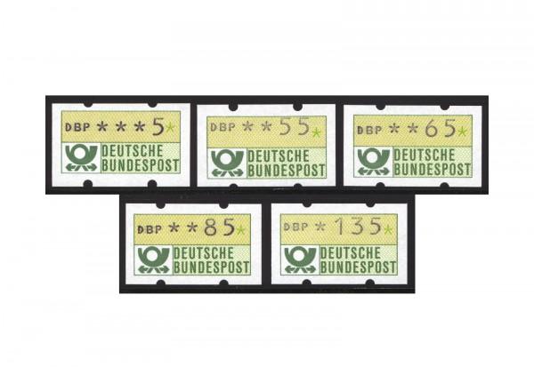 BRD ATM 1 Ergänzungswerte II postfrisch mit ruckseitigen Zahlnummern