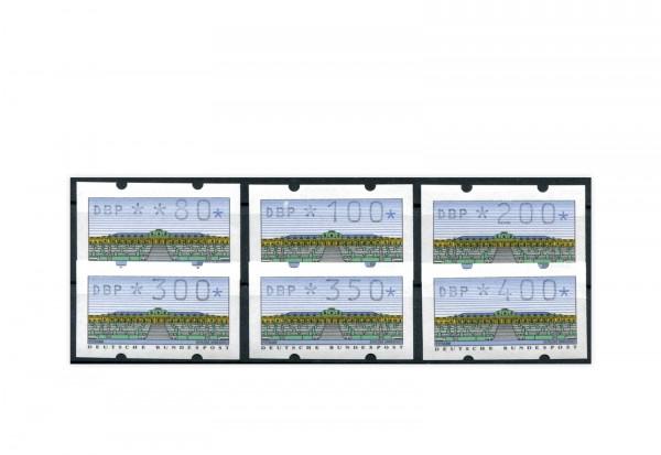 BRD ATM 2.1.1. VS 1 postfrisch mit Zählnummern 6 Werte