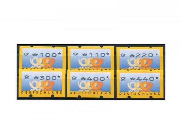 BRD ATM 3.2 Posthorn ** 6 Werte mit Zählnummern