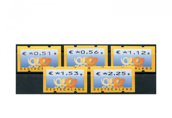 BRD ATM 4.1. VS 2 postfrisch mit Zählnummern 5 Werte