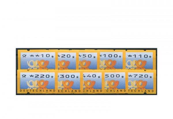 BRD ATM 3.3. VS 2 postfrisch mit Zählnummern 10 Werte