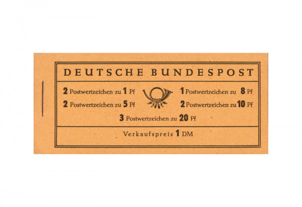 BRD Markenheftchen 4 X 1958 Heuss und Ziffer