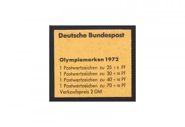 BRD Markenheftchen 17 1972 Olympiamarken postfrisch