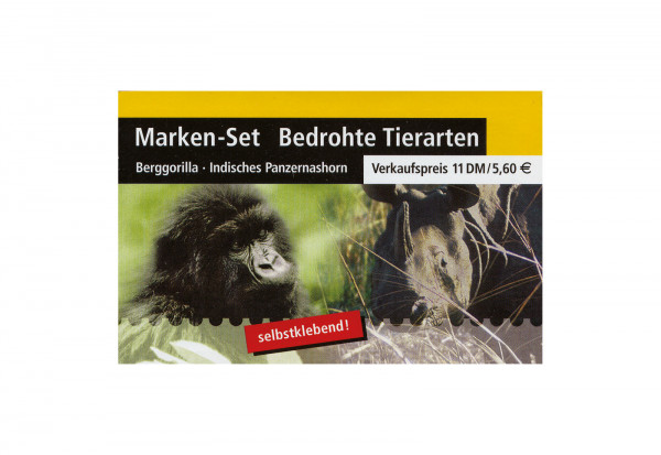 BRD Markenheftchen 44 2001 Bedrohte Tierarten postfrisch