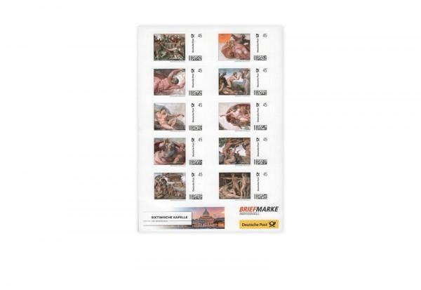 Sixtinische Kapelle Briefmarkenbogen