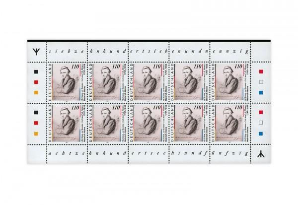 BRD 200.Geburtstag von Heinrich Heine 1997 1.Auflage komplett Kleinbogen Michel Nr. 1962 postfrisch