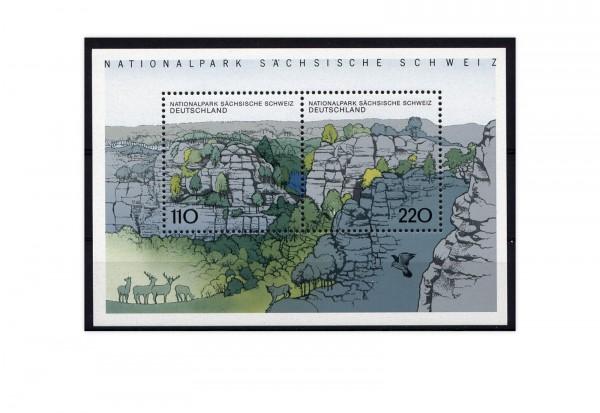 Briefmarken BRD Sächsische Schweiz 1998 Block 44 postfrisch