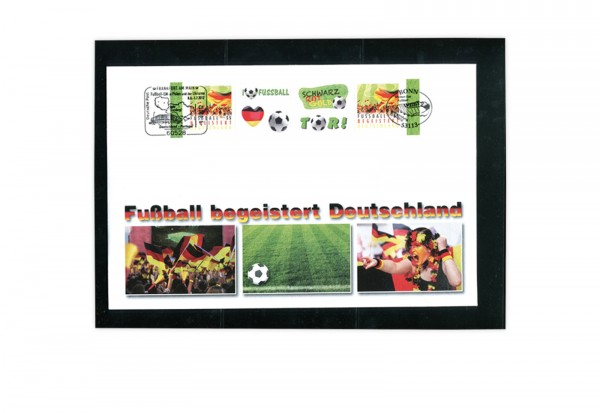 BRD Beleg Fußball EM 2012 mit EST Bonn und SST Frankfurt