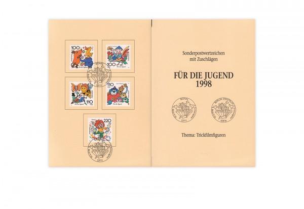 BRD Mi.Nr. 1990-1994 gest. auf Ministerkarte