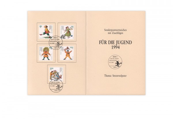 BRD Mi.Nr. 1726-1730 gest. auf Ministerkarte