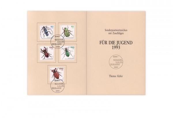 BRD Mi.Nr. 1666-1670 gest. auf Ministerkarte