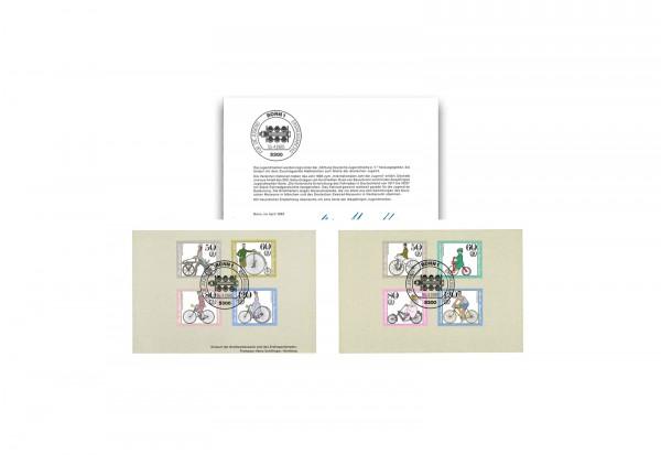 Briefmarken Berlin Michel-Nr. 735 - 738, 1242 - 1245 gestempelt auf Klappkarte