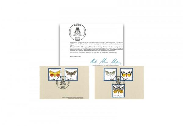 Briefmarken BRD Michel-Nr. 1602 - 1606 gestempelt auf Klappkarte