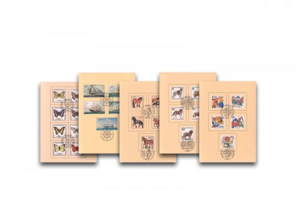 5 Ministerkarten im Set